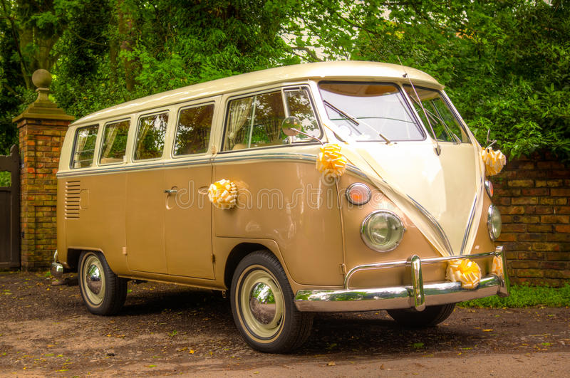 Download A VW Wedding camper van stock photo. Image of automobile - 25445196