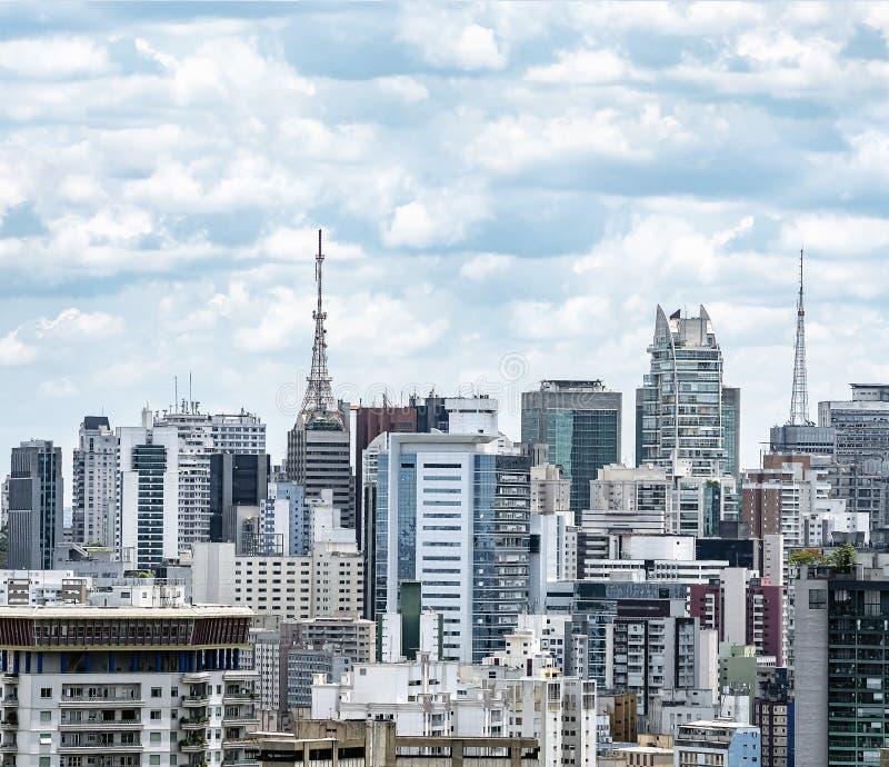 Vy över Bela Vista, Sao Paulo SP Brasilien royaltyfria foton