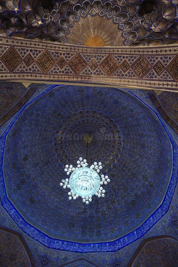Vy över Guri Amir cupola arkivfoton