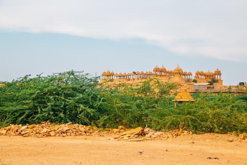 Vyas查特里历史的建筑学在贾沙梅尔,印度 免版税图库摄影