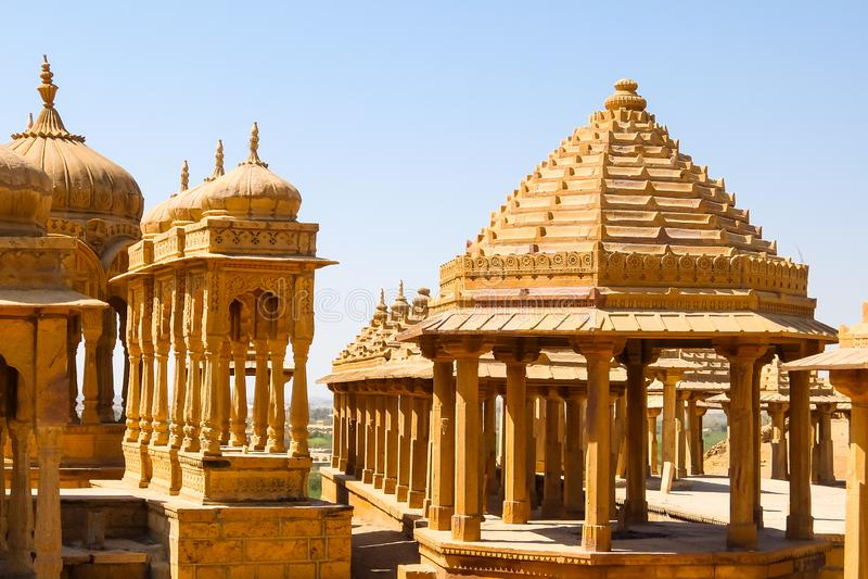 Vyas查特里建筑学贾沙梅尔堡垒的 库存图片