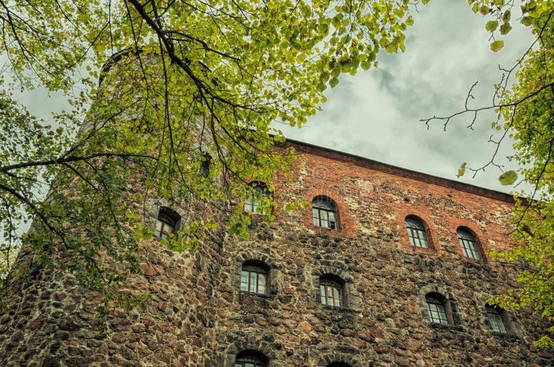 Vyborg城堡 天堂塔 免版税库存图片