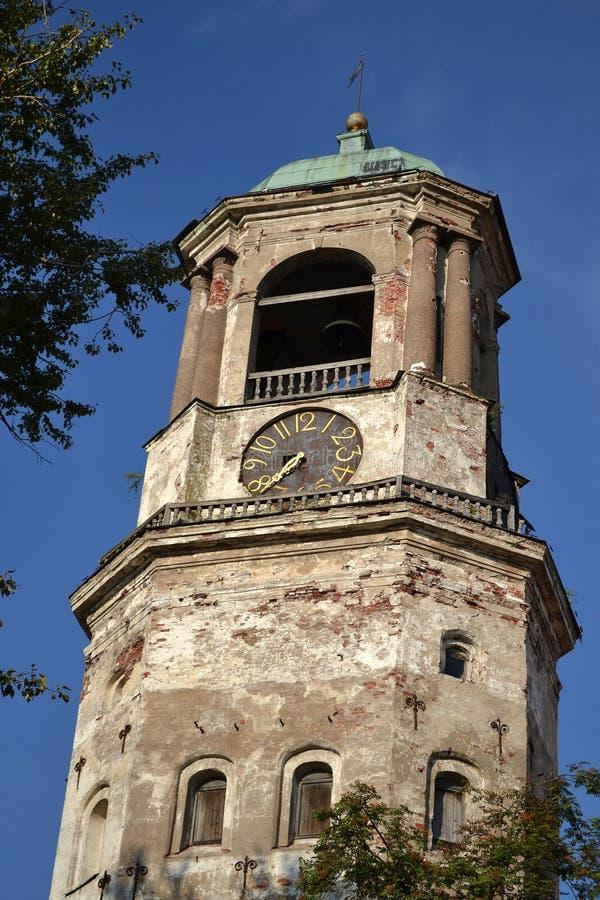 Vyborg clock tower royalty free stock photography