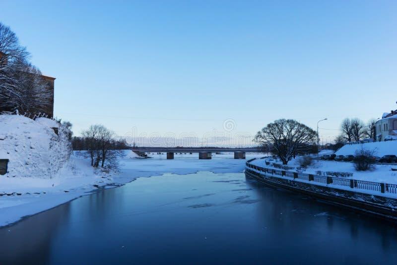 VYBORG, RUSIA - 5 de enero de 2019 castillo viejo de Vyborg en un día de invierno frío imagen de archivo libre de regalías