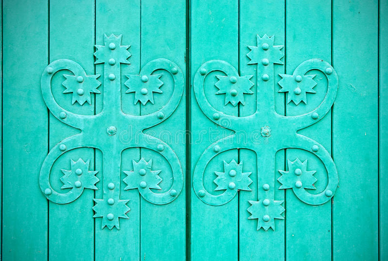Vyborg Rusia Fragmento de una puerta imagen de archivo libre de regalías