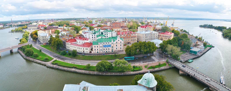 Vyborg, Rusland stock fotografie