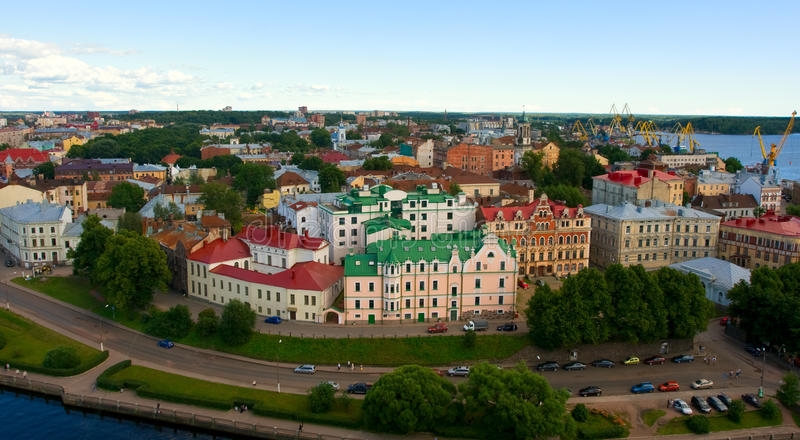 Vyborg, Russia. View of a Vyborg, Russia stock photo