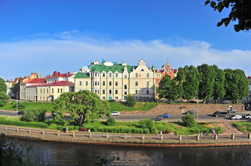 Scenic view of Vyborg old town, Russia stock image