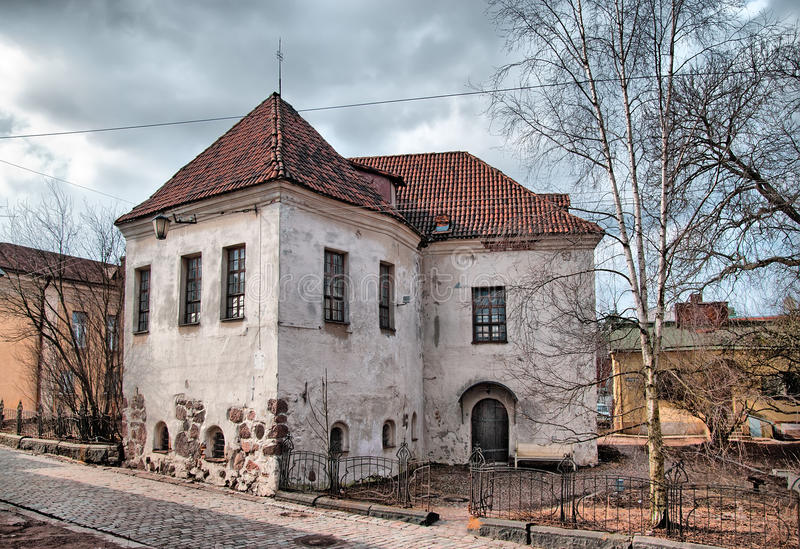 Vyborg. Russia. The last of St. Hyacinthus church. First it was a Franciscan Monastery School. Was built in 16 century. Vyborg is an ancient town in Leningrad royalty free stock photo