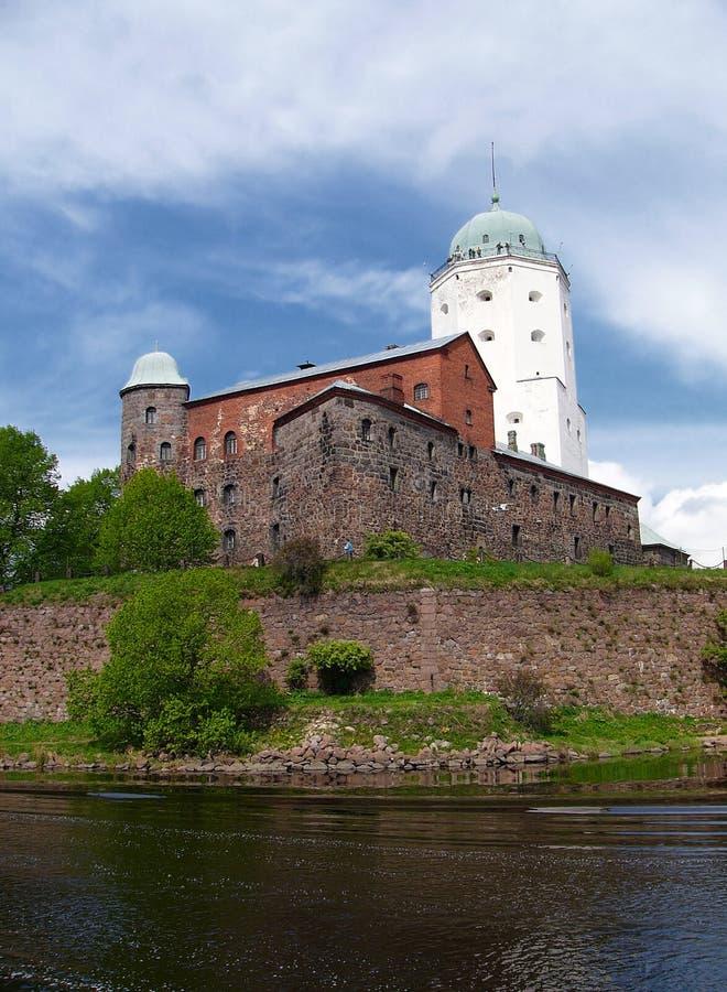 Vyborg Schloss-Kontrollturm lizenzfreie stockfotografie