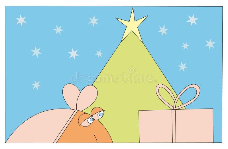 vykort för 2 jul vektor illustrationer