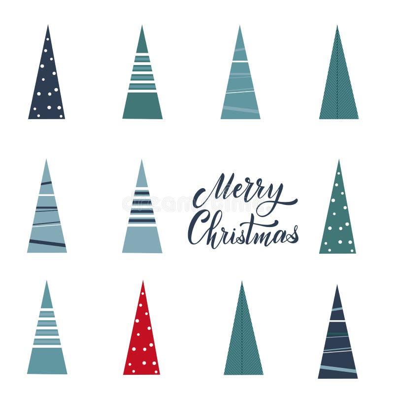 Vykort för glad jul och för lyckligt nytt år royaltyfri illustrationer