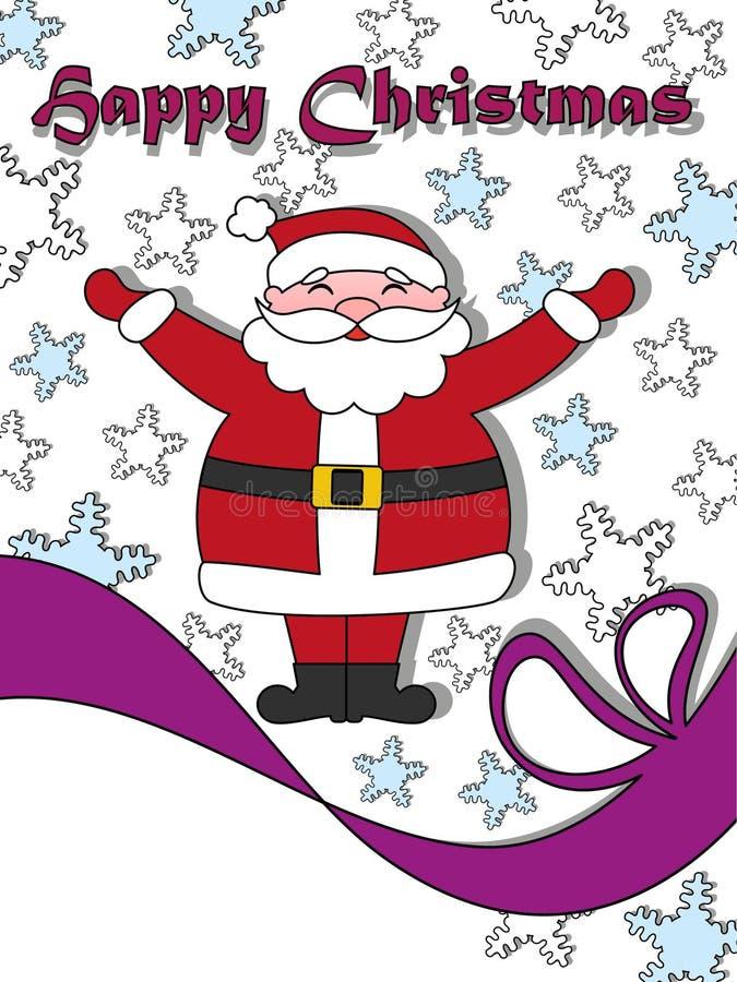 Vykort för lycklig jul med jultomten royaltyfria foton