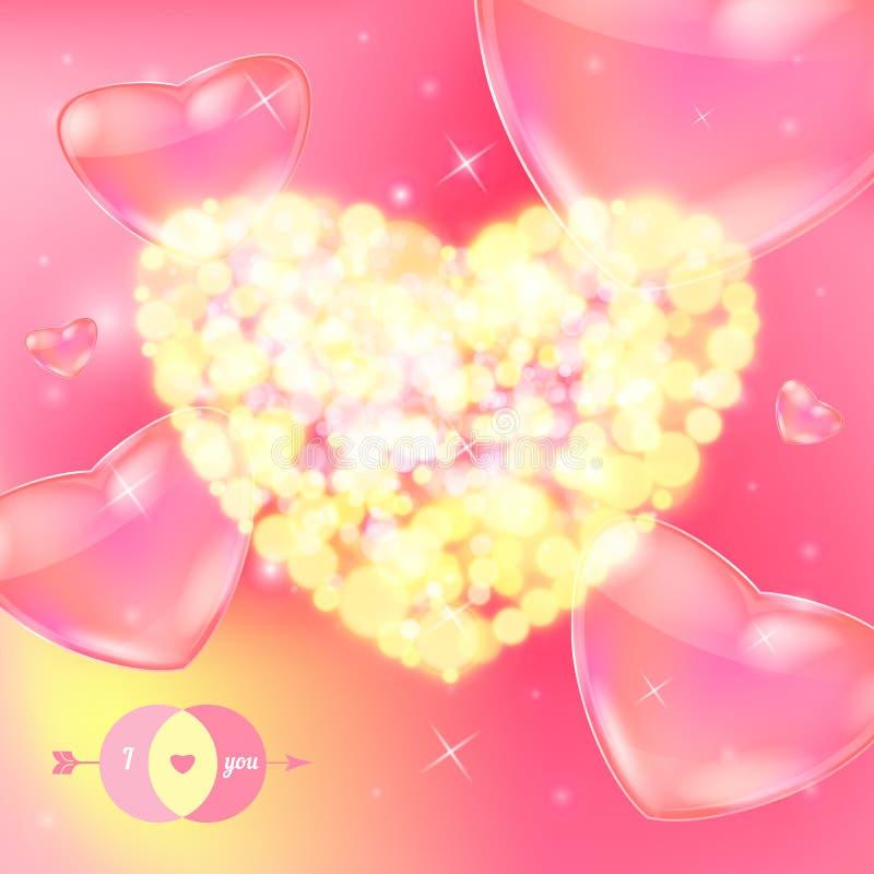 Download Vykort För Lyckliga Valentin Dag. Vektor Illustrationer - Illustration av affisch, kort: 37344682
