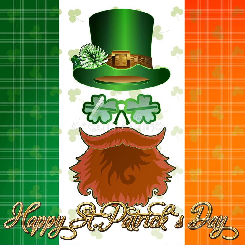 Vykortaffisch eller baner för sDay St Patrick royaltyfri illustrationer