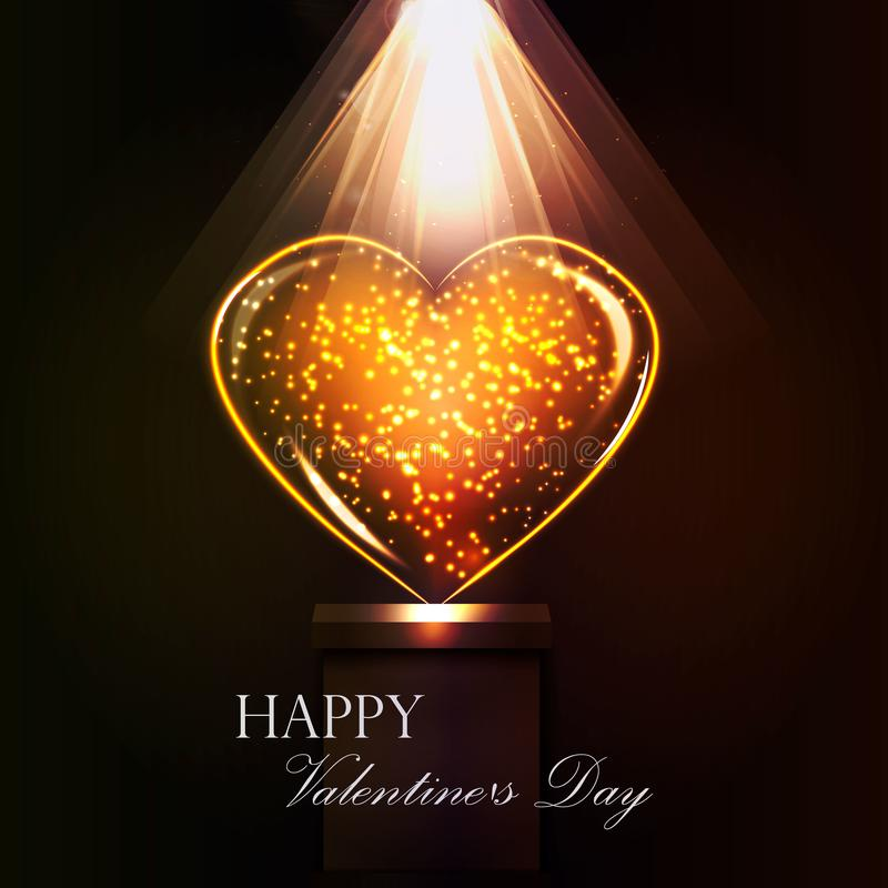 Vykortdag av den heliga valentin stock illustrationer