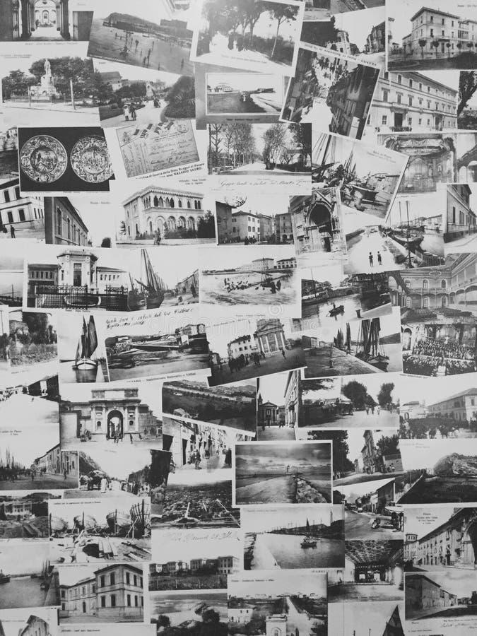 Vykorttextur - bakgrund - Retro Vintege - arkivfoton