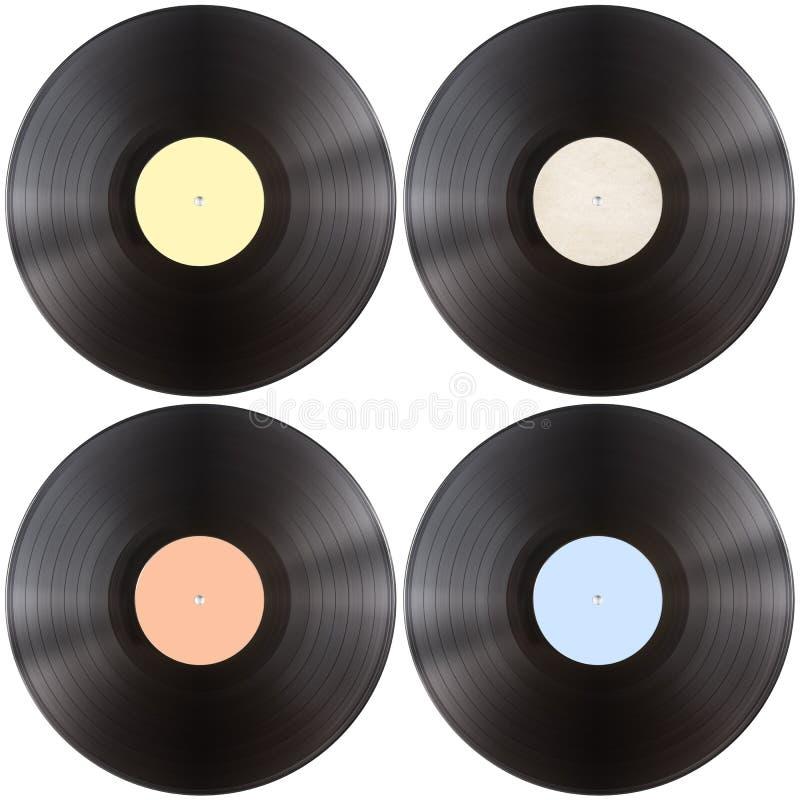 Vynil唱片盘集合 库存图片