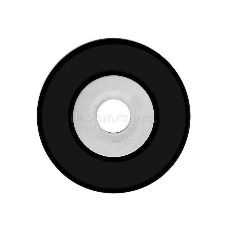 Vynil-Kreis lokalisiert auf Weiß lizenzfreies stockbild