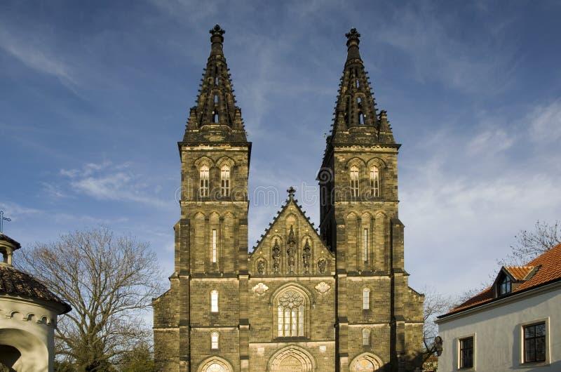 Vysehrad Church - Prague royalty free stock photos