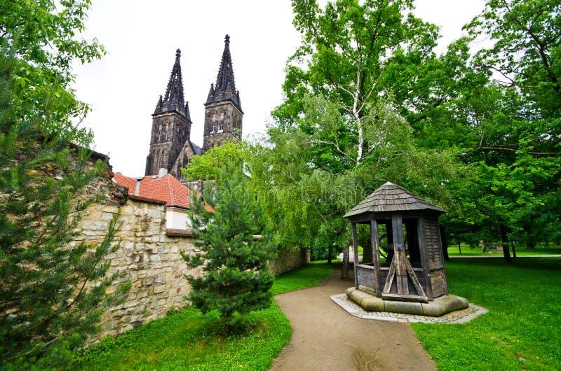Vysehrad in Praag, Tsjechische Republiek stock foto