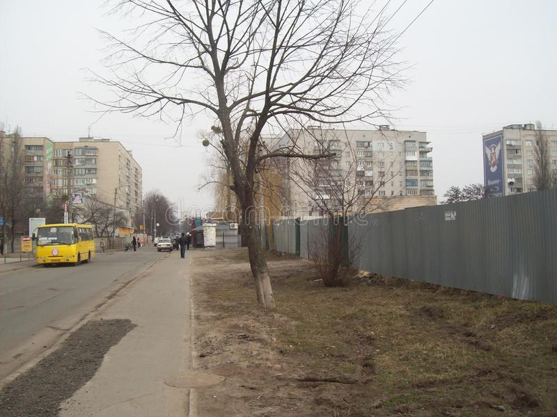 VYSHNEVE, УКРАИНА - 2-ОЕ АПРЕЛЯ 2011 Люди на улицах в городе стоковые изображения