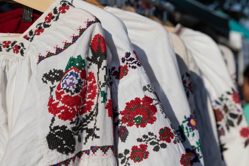 Vyshyvanka. Ukrainian embroidered blouse. Ukrainian shirt. Ukrainian costume. Vyshyvanka is the colloquial name for the embroidered shirt in Ukrainian national royalty free stock photography