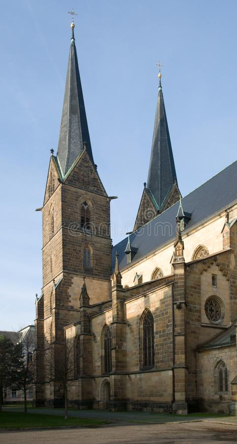 Vysoke Myto, Czech republic. Church of St. Lawrence in Vysoke Myto, Czech republic stock image