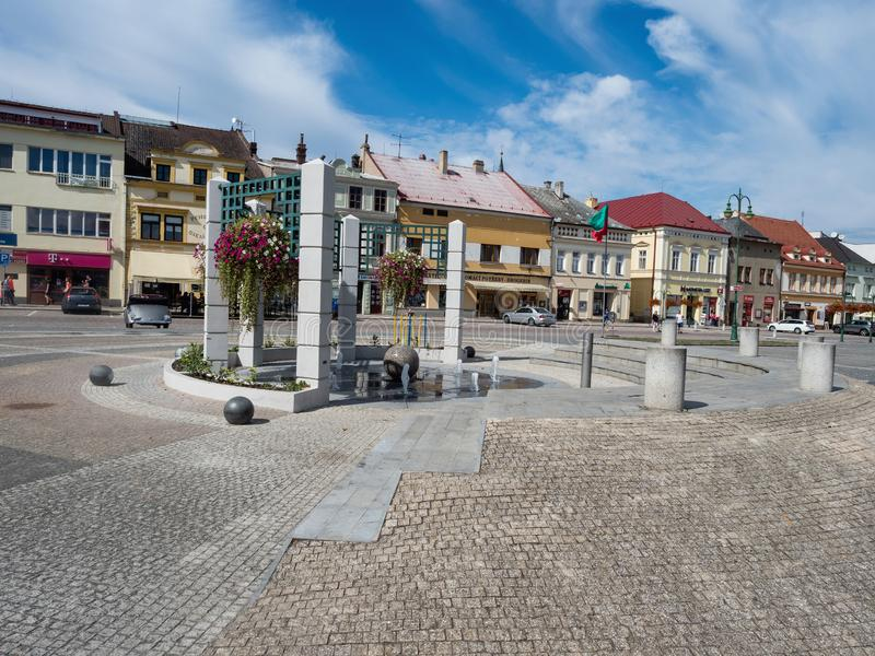 VYSOKE MYTO, CZECH REPUBLIC - SEPTEMBER 09, 2018. Vysoke Myto to. Wn square of Premysl Otakar II. It is largest square in the country stock photography