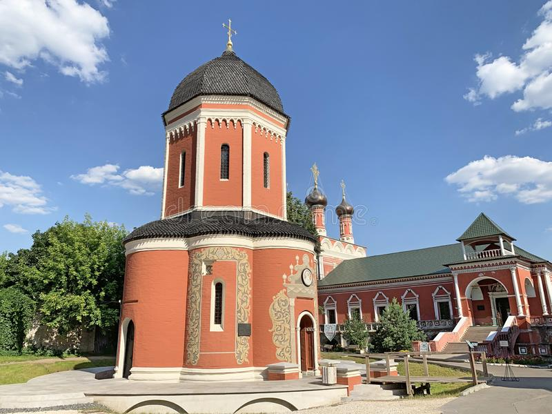 Vysoko-Petrovsky men monastery in Moscow, the Cathedral of St. Peter the Metropolitan of Moscow and all Russia in the summer. Russ. Ia royalty free stock photos