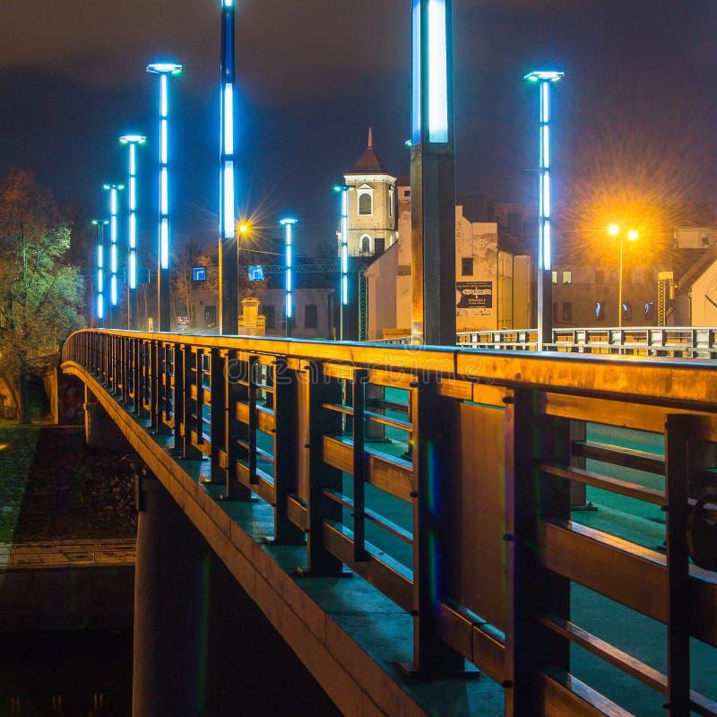 Vytautas die große Brücke in Kaunas stockbilder