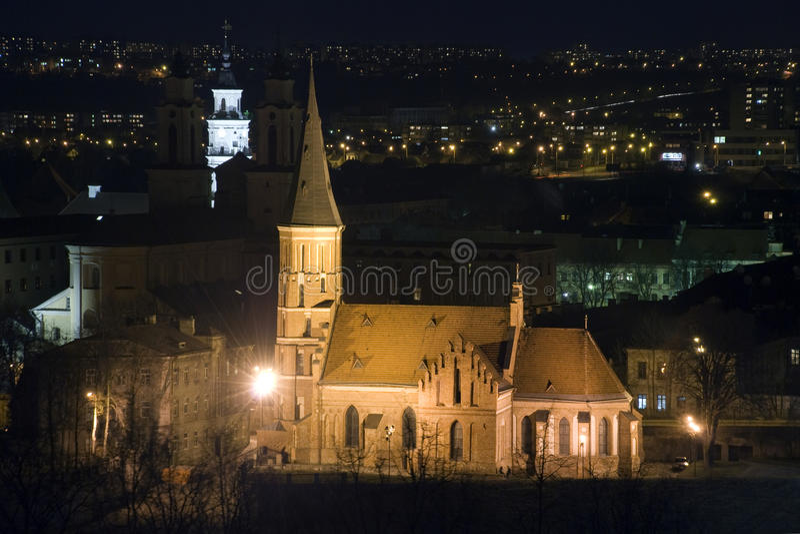 Vytautas a grande igreja imagens de stock