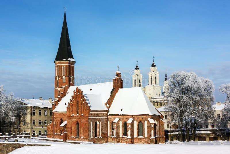 Vytautas a grande igreja, Kaunas foto de stock royalty free