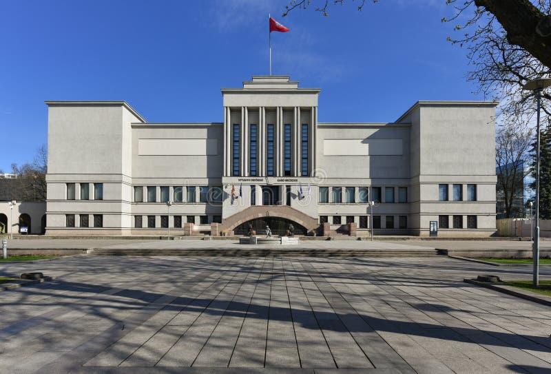 Vytautas het Grote oorlogsmuseum Kaunas Litouwen royalty-vrije stock fotografie