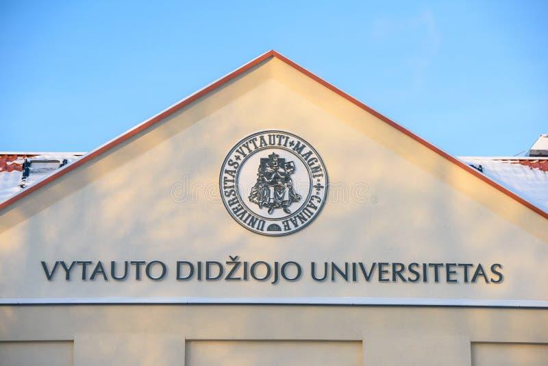 Vytautas Magnus University, Kaunas, Litauen stockfotografie