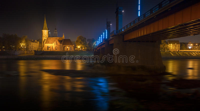 Vytautas Wielki kościół w Kaunas, Lithuania obraz royalty free