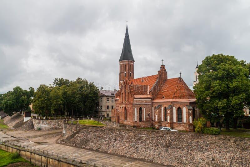 Vytautas Wielki kościół wniebowzięcie Święty maryja dziewica w Kaunas, Lithuani obraz stock