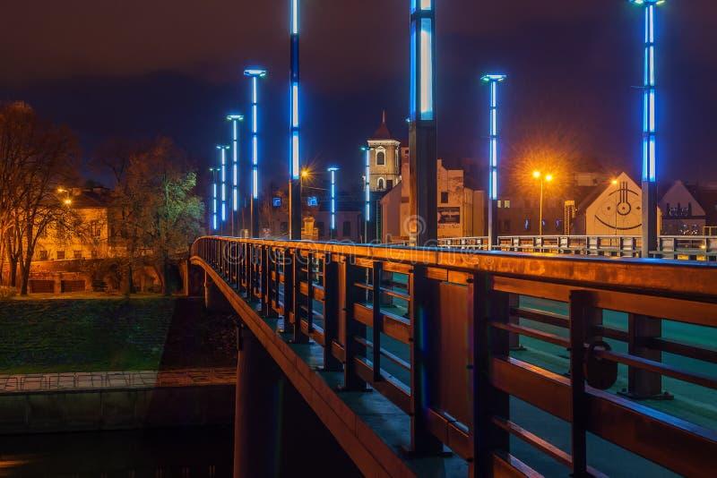 Vytautas Wielki lub Aleksotas most w Kaunas, Lithuania zdjęcia stock