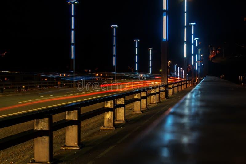 Vytautas Wielki lub Aleksotas most w Kaunas, Lithuania zdjęcie stock