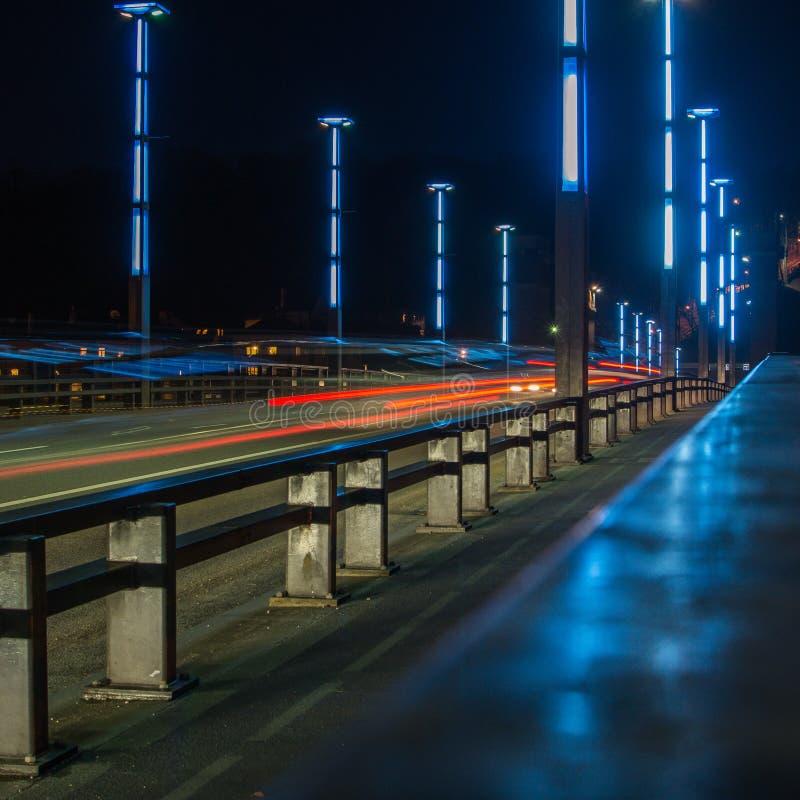 Vytautas Wielki most w Kaunas zdjęcie stock