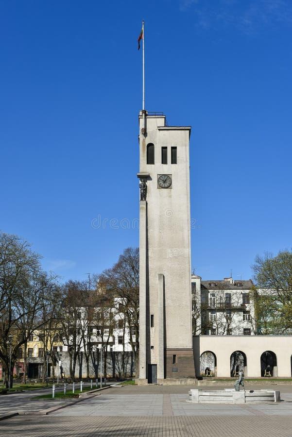 Vytautas Wielki wojenny muzealny dzwonkowy wierza Kaunas Lithuania zdjęcia royalty free