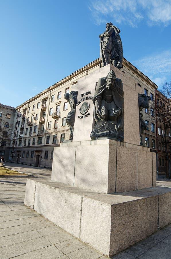 Vytautas Wielki zabytek w Kaunas zdjęcie stock