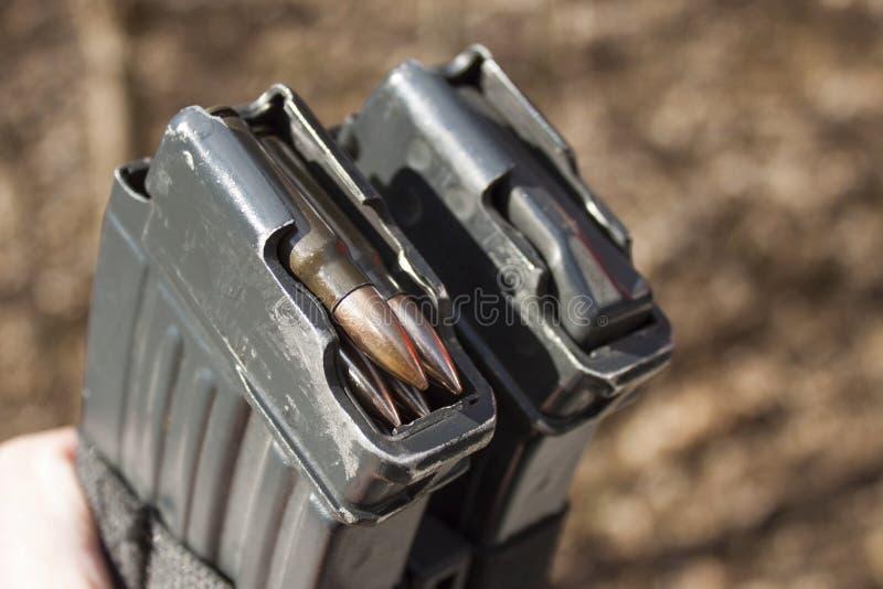Vz tchèque de magazine fusil d'assaut 58 avec les munitions 7 62 millimètres photographie stock libre de droits