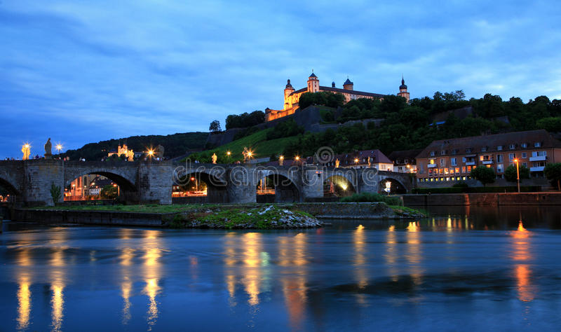 WÃ ¼ rzburg城堡 库存照片
