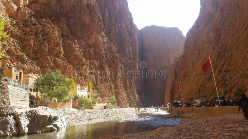 Wąwozy Du Toudgha, tinghir, Morocco zdjęcia stock