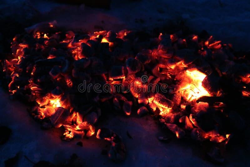 Węgle po ogienia zdjęcia stock