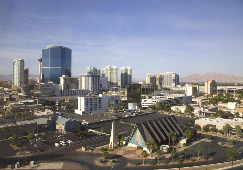 Wächter Angel Cathedral in Las Vegas stockbilder