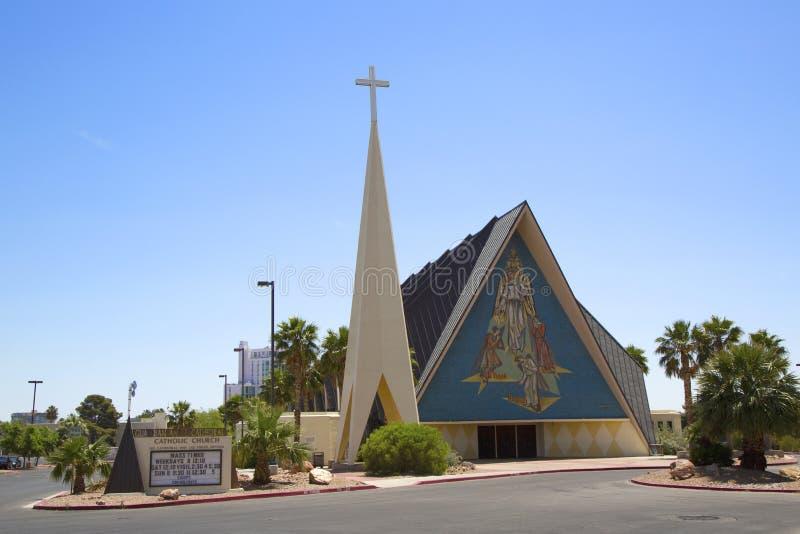 Wächter Angel Cathedral in Las Vegas lizenzfreies stockbild