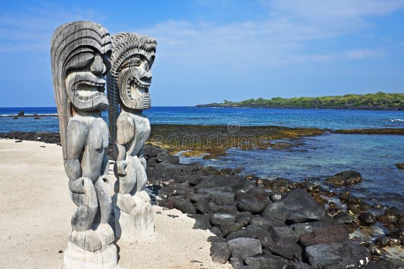 Wächter der hawaiischen Abgabe stockfoto