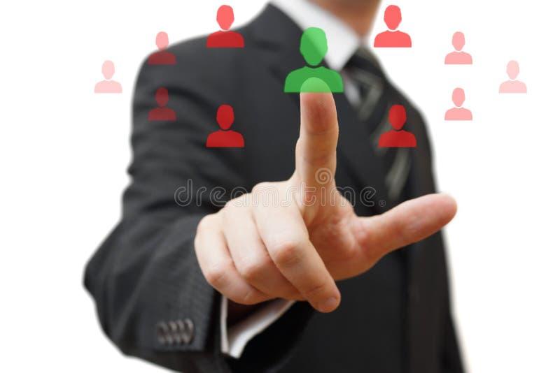Wählen der rechten Person für Partnerschaft stockfotos